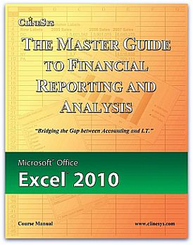 Excel 2010 Manual Cover and Product Page Link