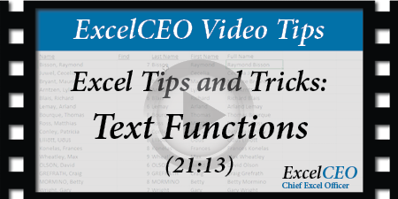 ExcelCEO - Microsoft Excel Training Courses: Webinars and